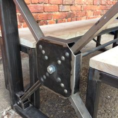 Industrial Steampunk Reclaimed Wood Dining by ReclaimedBespoke
