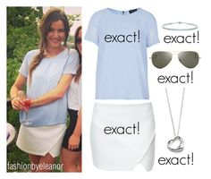 """""""Eleanor's birthday party"""" by ammemma ❤ liked on Polyvore featuring Zara, Topshop, Ray-Ban, Elsa Peretti and Tiffany & Co."""