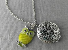 Owl Essential Oil Diffuser Necklace Essential by SimplyMoments4