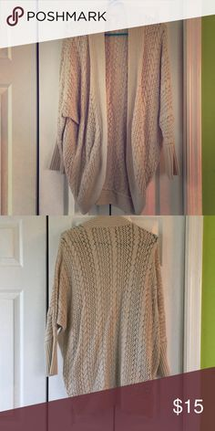 Forever 21 Contemporary chunky cardigan Knitted beige cardigan. Worn a handful of times but in great condition. Forever 21 Sweaters Cardigans