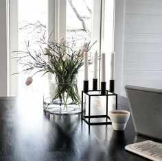 Mogens Lassens candleholder Kubus 4 styled by Pella Hedeby.