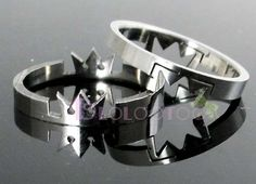 I know a few ppl who might like these, lol - Kingdom Hearts Crown Stainless Steel Love Lover Ring #8