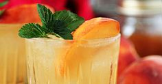 Bourbon and Peach Jam Smash. This cocktail tastes like golden sunshine.