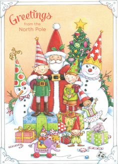 Mary Engelbreit Merry Christmas from All of US Paperworks Blank Card New Whimsical Christmas, Vintage Christmas Cards, Christmas Greeting Cards, Christmas Greetings, Mary Christmas, Christmas Pictures, Christmas Holidays, Christmas Crafts, Christmas Houses