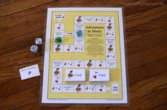 Adventures in Music Game (plus lots of other great piano games and printables)