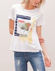 En Stradivarius encontrarás 1 Camiseta print plantas para mujer por sólo 9.95 € . Entra ahora y descúbrelo junto con más CAMISETAS.