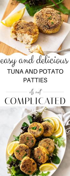 Easy Tuna and Potato Patties have a crisp, crunchy exterior and a tender, flavoursome interior. Lunch Box Recipes, Fish Recipes, Seafood Recipes, Healthy Dinner Recipes, Appetizer Recipes, Beef Recipes, Tasty Meals, Sandwich Recipes, Salmon Recipes