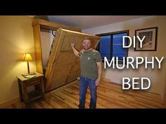 Murphy Bed Kits, Build A Murphy Bed, Murphy Bed Plans, Murphy Bed Frame, Murphy Bed Desk, Diy Projects Plans, Home Projects, Project Ideas, Murphy Bed Mechanism