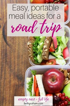 I have a vegan daughter so traveling is always a challenge, whether we're looking for a local restaurant or facing a long-haul flight. I came up with five great dishes and healthy snack ideas for road trips that are easy to prepare and are portable Healthy Snacks, Healthy Recipes, Portable Food, Sprouts Salad, Cabbage Slaw, Cooking For Two, Long Haul, Vegan Dinners, Road Trips