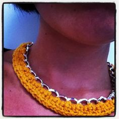 Crochet chain necklace - free pattern