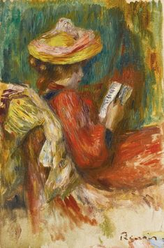 'Jeune Fille lisant' (Young Girl Reading) by Pierre-Auguste Renoir, ca.1895