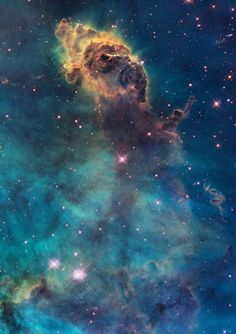 Astronomy Fabric Jet in Carina Nebula Hubble Photograph on EQ Printable Cotton Fabric Sheet. Cosmos, Space Photos, Space Images, Nasa Space Pictures, Hubble Space Telescope, Space And Astronomy, Ciel Nocturne, Space Photography, Deep Space