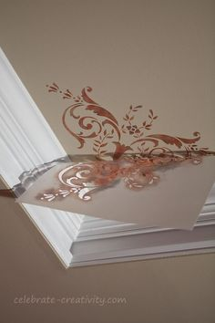 stenciled ceiling - I'll use celtic knot designs -  so unique