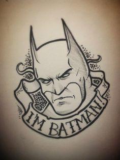 Batman tattoo flash by taylorweaved
