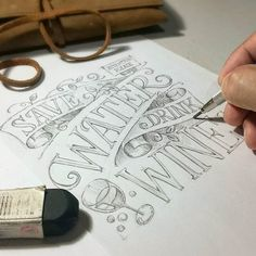 pencil Hand Lettering and typhography quote Hand Lettering 101, Hand Lettering Alphabet, Hand Lettering Tutorial, Creative Lettering, Types Of Lettering, Lettering Styles, Calligraphy Letters, Typography Letters, Brush Lettering