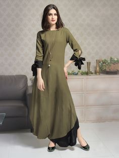 Tapas fashion brown long kurti kurta