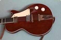 Super rare handbuilt LP style guitar from danish luthier