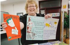 Simons: Vintage library posters offer viral blast from bookish past - Our local Junior High :)