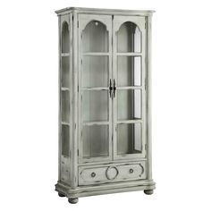 Shop for Stein World Five Colonies Cabinet, and other Living Room Cabinets at B. Myers Furniture in Goodlettsville, Tennessee, A weathered, antique white finish gives this traditional two-door cabinet a relaxed feel. Living Room Cabinets, Living Room Furniture, Home Furniture, Accent Furniture, Furniture Storage, Cabinet Furniture, Furniture Projects, Dining Rooms, White Display Cabinet