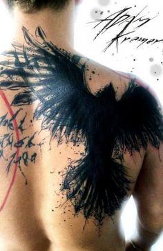 Татуировка в стиле реализм трэш полька