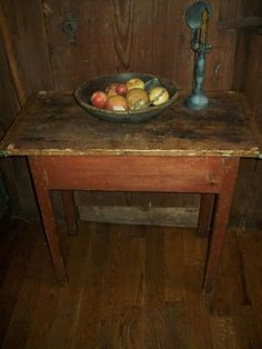 Great early table, bittersweet base - from Early Country Antiques