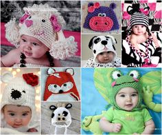 Animal Hats - Free Crochet Patterns-thewhoot.com.au