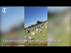 WATCH Video Shoreham Airshow crash Hawker Hunter plane smashes into A27 WATCH Video Shoreham Airshow crash Hawker Hunter plane smashes into A27 shoreham air show plane crashes explosion hawker hunter jet cars a27 near brig...
