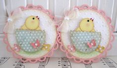 Celebrations: Spring & Easter Cards, Tags, Layouts, Albums & Party Favors ❤ Yellow Baby Chick