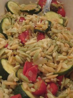 orzo Sauteed Zucchini, Zucchini Salad, Couscous, Vegetarian Recipes, Cooking Recipes, Healthy Recipes, Orzo Pasta Recipes, Lemon Orzo, Salads