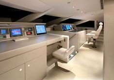 Alloy Yachts Red Dragon, interior design by Wilmotte & Associates _