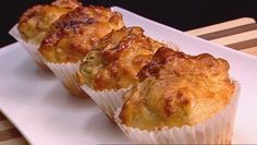 Vegemite & cheese muffins - Recipes - Huey's Kitchen - Weekdays on Channel 10 at Muffin Recipes, Snack Recipes, Cooking Recipes, Snacks, Savory Muffins, Cheese Muffins, Australian Food, Australian Recipes, Vegemite Recipes