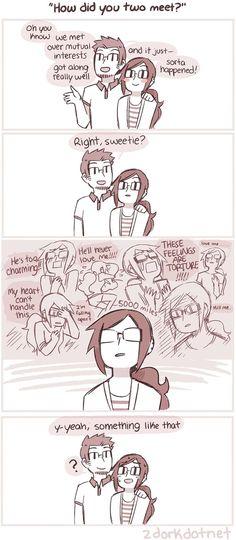 "2dorkdotnet :: ""How did you meet?"" | Tapastic Comics - image 1"