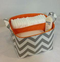NEW+LG+Diaper+Caddy+10x10x7+Fabric+Storage+Bin+by+Creat4usKids,+$40.00