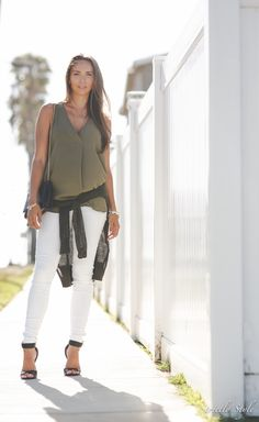 olive green outfit classic outfit