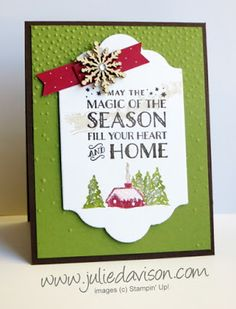 Stampin' Up! Cozy Christmas Magic of the Season Card #stampinup www.juliedavison.com 2015 Holiday Catalog
