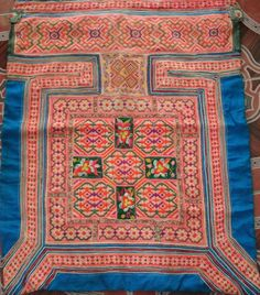Hmong Baby Carrier/ Hmong / Miao fabric / Hmong embroidery panels