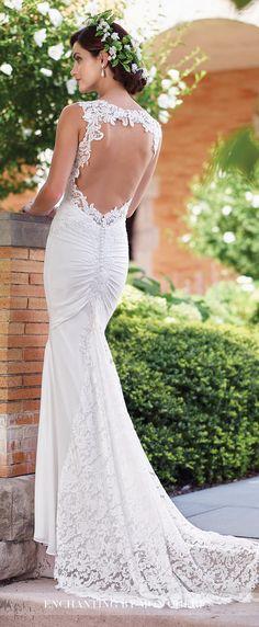 Dropped Waistline Wedding Dress - Enchanting by Mon Cheri Spring 2017