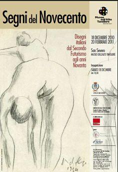 """Mostra d'arte contemporanea """"Segni del Novecento. Disegni italiani dal Secondo Futurismo agli anni Novanta"""" (18 dicembre 2010 - 20 febbraio 2011) a cura di Massimo Bignardi"""