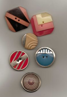 Very DECO Celluloid Buttons!