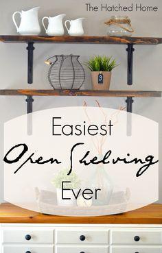 Easy Open Shelving