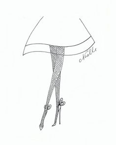 """Fashion Illustration """"Nothing but Legs"""" by Christen Noelle"""
