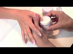 KM Dip Powder Pink & White Set With Tips - YouTube