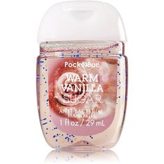 Bath Body Works PocketBac Hand Gel Warm Vanilla Sugar ($31) ❤ liked on Polyvore featuring beauty products, bath & body products and body cleansers