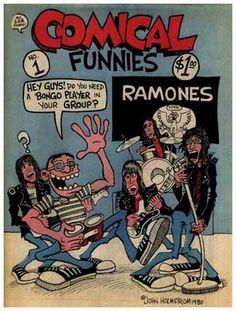 Ramones funnies, John Holmstrom, 1980.