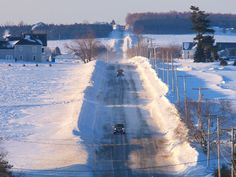 Snow banks in the county. Paul Cyr Photography