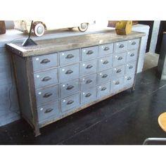 Ancien meuble de métier - 24 tiroirs
