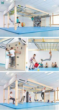 Playroom Design: DIY Playroom with Rock Wall. Playroom Design: DIY Playroom with Rock Wall. Playroom Id Kids Indoor Gym, Indoor Jungle Gym, Kids Gym, Spy Kids, Playroom Design, Playroom Ideas, Kids Bedroom, Bedroom Decor, Basement Gym