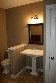Basement bathroom idea