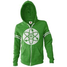 Anime Allstars ~ #TheBigBangTheory  Atom With Logo Zip-Up Hoodie  Made from cotton, this front zip hoodie is great for both men and women, and it'll make the perfect gift for that The Big Bang Theory fan in your life if not for yourself. The atom symbol on the front keeps it quirky while the design and colors themselves make this a fashionable piece, too!