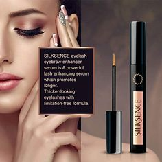 5b2c22bb29f Amazon.com: Silksence Eyelash Growth Serum for Lash and Brow Irritation  Free Formula (5ML): Beauty